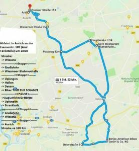 Route Frühjahrsausfahrt